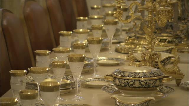 CU PAN Dining table in Saadabad Palace, Tehran, Iran