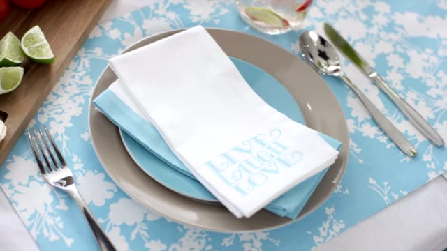 Dining Table, summer lunch place setting