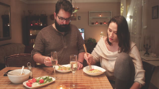 dinner at home - wife stock videos & royalty-free footage
