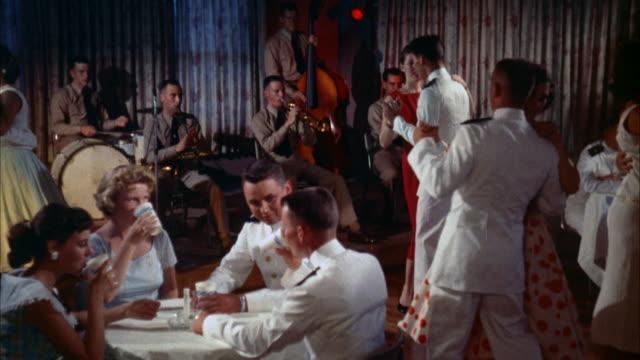 vidéos et rushes de ms dinner dance formal party, with navy cadets - discothèque