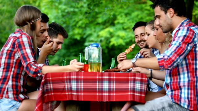 dinner party in a backyard. - only young men stock videos & royalty-free footage