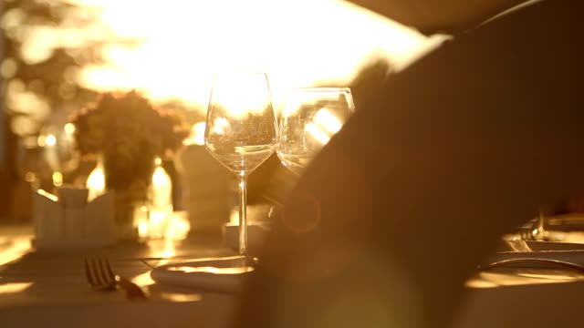 dinner table in sunset - dining table stock videos & royalty-free footage