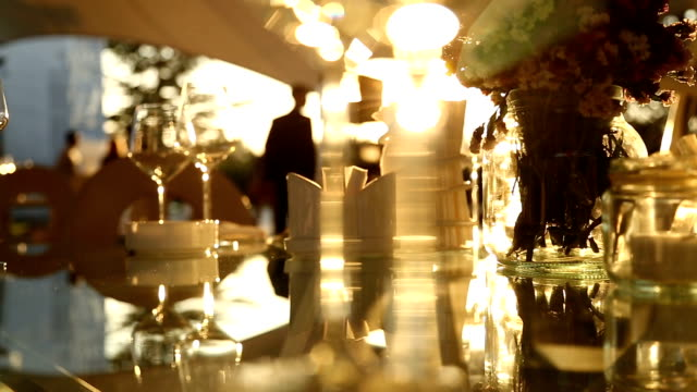 dinner table in sunset - gourmet stock videos & royalty-free footage