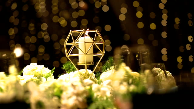 dinner table setting at wedding reception. - arranging stock videos & royalty-free footage