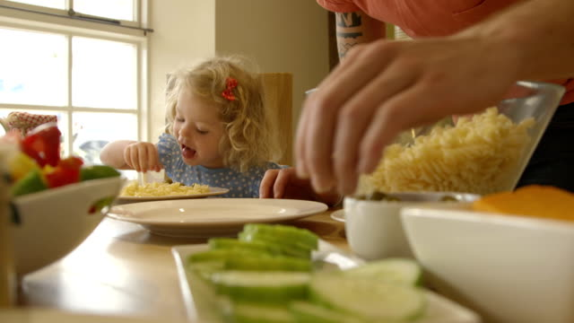 dinner time - young family stock videos & royalty-free footage