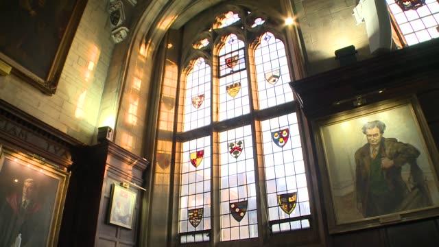 dinning room in balliol college - logo stock videos & royalty-free footage