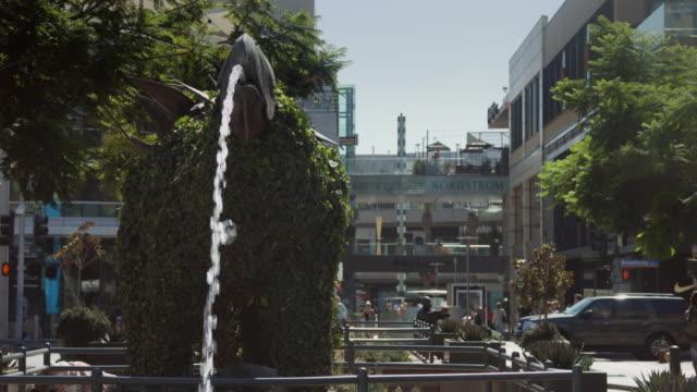 Dinosaur Fountain at Entrance to Santa Monica Place Mall