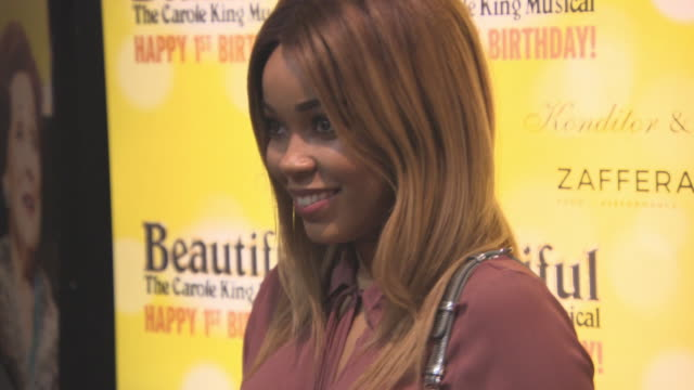 dionne bromfield at beautifulthe carole king musical's birthday celebrations at aldwych theatre on february 23 2016 in london england - aldwych theatre stock videos & royalty-free footage