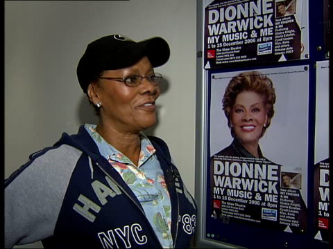 dionne warwick interview about her theatre show in london on recording with her family and with whitney houston facing camera i'm back - whitney houston stock-videos und b-roll-filmmaterial