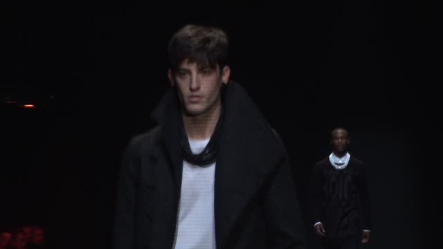 dior homme: paris fashion week menswear a/w 09 at paris . - fashion industry stock videos & royalty-free footage