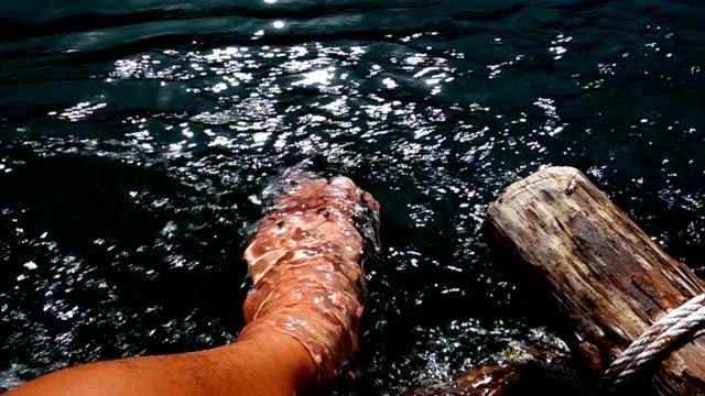 dip foot - wet stock videos & royalty-free footage