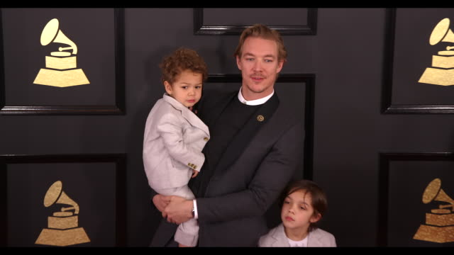Diplo Lockett Pent and Lazer Pentz at the 59th Annual Grammy Awards Arrivals at Staples Center on February 12 2017 in Los Angeles California 4K
