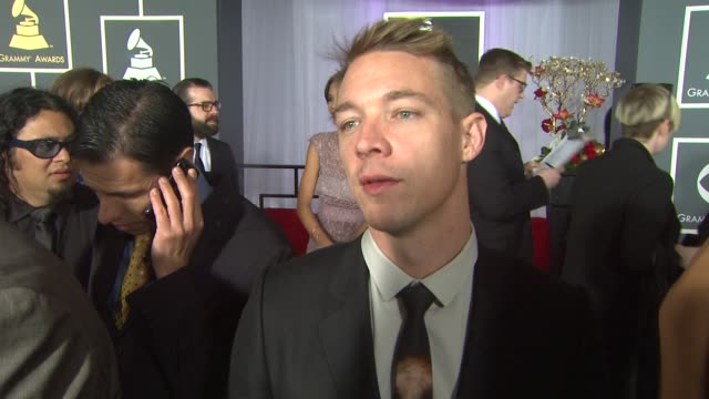 interview diplo on being a nominee and on being at the show at the 55th annual grammy awards arrivals interviews in los angeles ca on 2/10/13 - grammy awards stock videos and b-roll footage