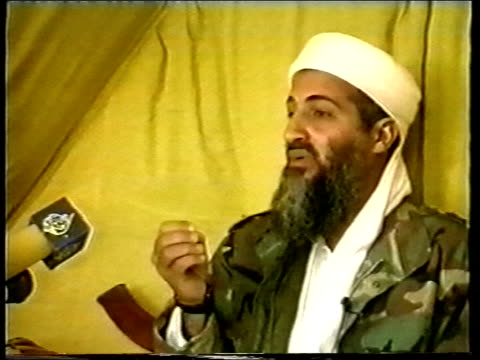 Diplomacy Day's events LIB AFGHANISTAN Osama Bin Laden speaking during interview