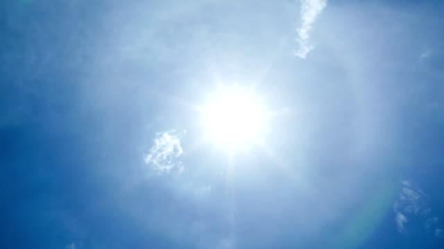 vídeos y material grabado en eventos de stock de punto del sol directo y lapso de tiempo de cielo nuboso, 4k video - mancha solar