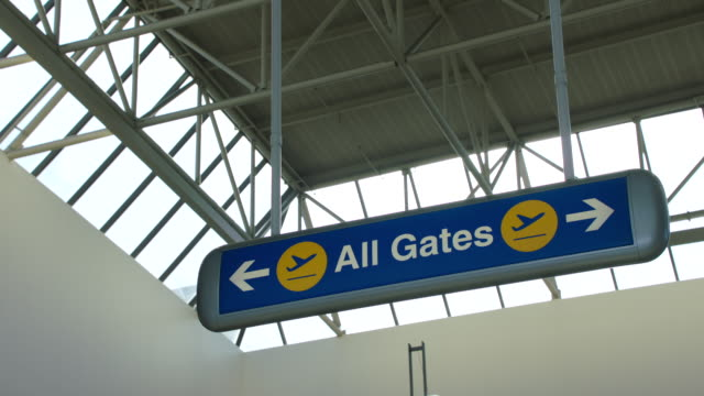 ms directional sign of all gates at lax - lax airport stock videos & royalty-free footage