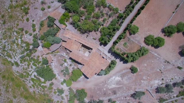 directly above hermitage of ermita de betlem in the mountains of artà ( serra artana or massís d'artà ) of balearic islands majorca / spain - 2010 2019 stock videos & royalty-free footage