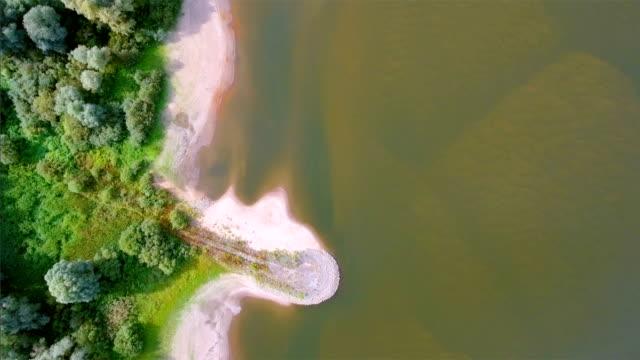直接上記のエルベ川の低いザクセン、ドイツ - 見渡す点の映像素材/bロール