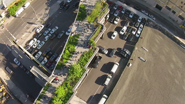 directly above shot of the high line / new york, united states - rebuilding stock videos & royalty-free footage