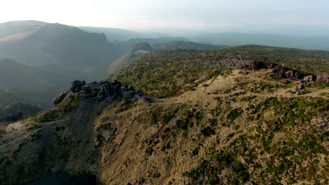 Directly Above view of Baengnokdam(crater lake) in top of Hallasan mountain