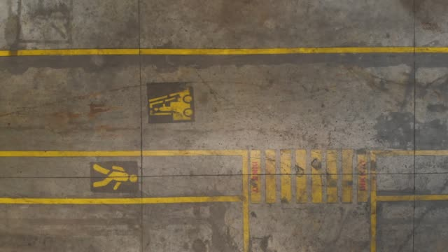directly above view of floor lines in a factory - health and safety stock videos & royalty-free footage