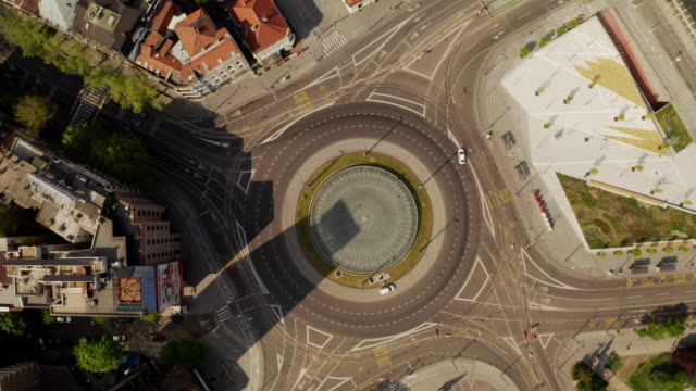 directly above view of slavija roundabout - parking stock videos & royalty-free footage