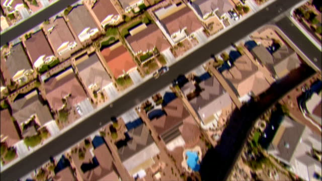 AERIAL Directly over tract houses in Las Vegas, Nevada