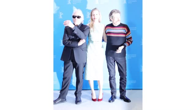 berlin germany february 24 director abel ferrara dounia sichov and willem dafoe pose at the siberia photo call during the 70th berlinale... - gif stock videos & royalty-free footage