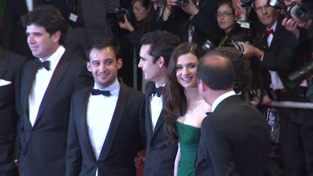 Director Alejandro Amenabar Max Minghella Rachel Weisz and Oscar Isaac at the Cannes Film Festival 2009 Agora And Czar Steps at Cannes