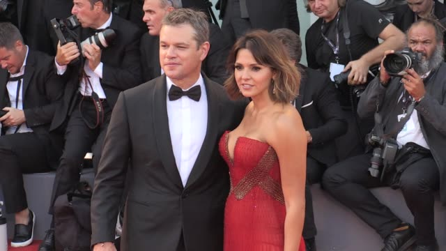 director alexander payne matt damon and his wife luciana barroso kristen wiig and more on the red carpet for the opening ceremony and the premiere of... - matt damon stock videos and b-roll footage