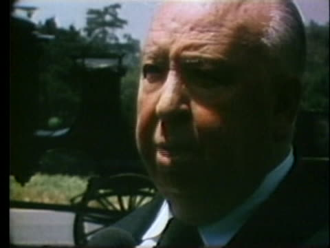 director alfred hitchcock discusses his directorial style. - arachnophobia stock videos & royalty-free footage