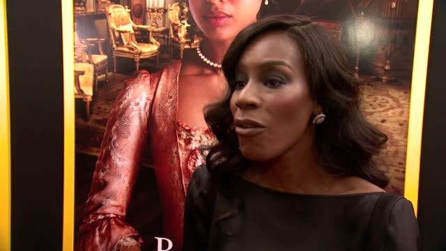 director amma asante talks about being here in this moment at the premiere why this story had to be told and how gugu embodies the role of belle at... - paris theater manhattan stock videos and b-roll footage