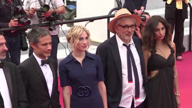 FRA: Cast and Crew of It Must Be Heaven on Cannes red carpet