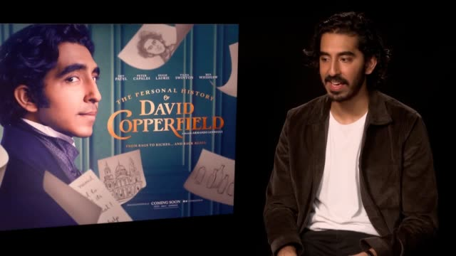 vídeos y material grabado en eventos de stock de director armando iannucci and actor dev patel talk about upcoming film the personal history of david copperfield patel plays the title role a choice... - armando iannucci