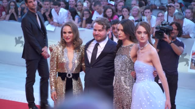 director brady corbet and cast of 'vox lux' arrive on the red carpet during the 75th venice film festival on september 4 2018 in venice italy - film festival stock videos & royalty-free footage