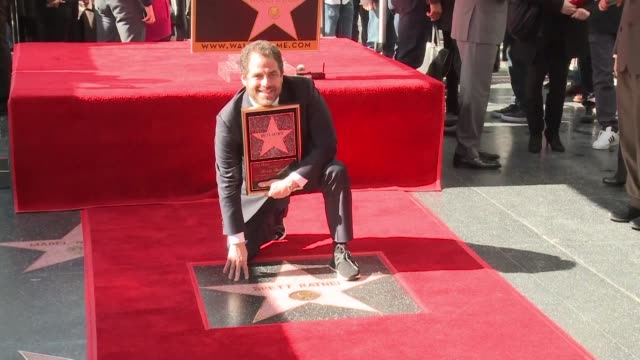 Director Brett Ratner celebrates his star on the Walk of Fame ceremony in Hollywood also attended by stars including Eddie Murphy and Dwayne Johnson