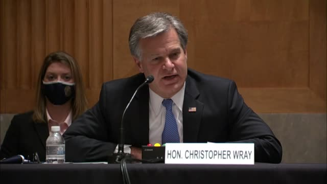 director christopher wray continues an answer about accountability following the crossfire hurricane investigation that the justice department had... - an answer film title stock videos & royalty-free footage