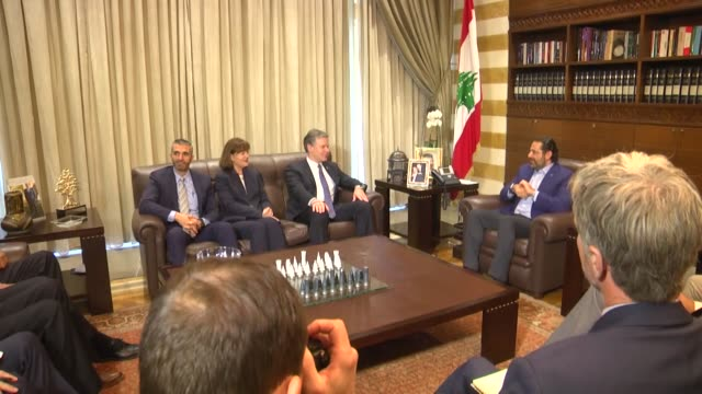 fbi director christopher wray meets lebanese prime minister saad hariri in capital beirut on september 21 2018 - christopher a. wray stock videos & royalty-free footage