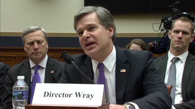 fbi director christopher wray tells members of the house judiciary committee that on the national security front the fbi conference individuals who... - christopher a. wray stock videos & royalty-free footage
