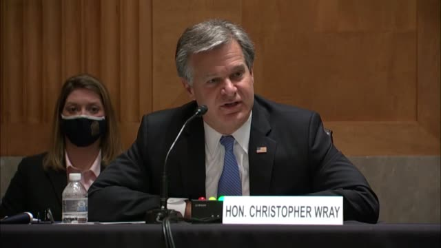 director christopher wray tells wisconsin senator ron johnson when asked about briefing materials in a classified space in review of the crossfire... - other stock videos & royalty-free footage
