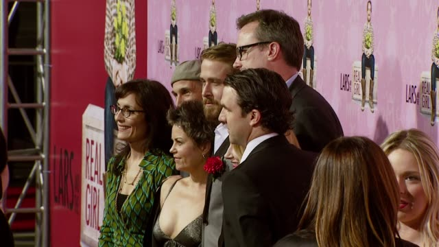 Director Craig Gillespie writer Nancy Oliver Ryan Gosling producer John Cameron Patricia Clarkson and Paul Schneider at the 'Lars and the Real Girl'...