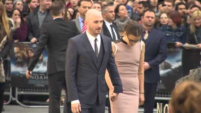 broll director darren aronofsky and brandiann milbradt attend the 'noah' uk film premiere at odeon leicester square on march 31 2014 in london england - darren aronofsky stock videos and b-roll footage