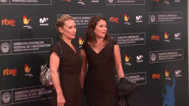 director emmanuelle bercot and actress sidse babett knudsen attend the opening gala during 64th san sebastian international film festival at kursaal... - fille de stock videos & royalty-free footage