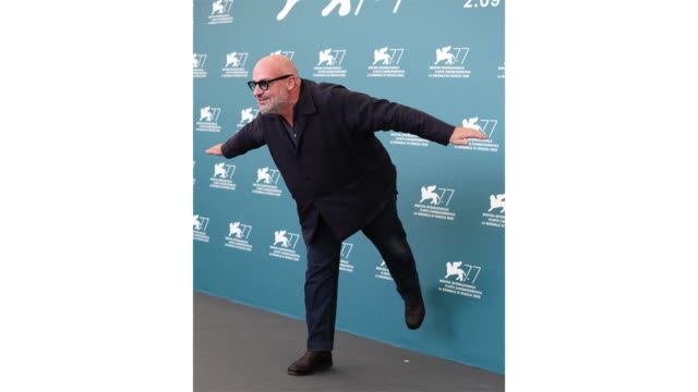 venice italy september 08 director gianfranco rosi attends the photocall of the movie notturno at the 77th venice film festival on september 08 2020... - gif stock videos & royalty-free footage