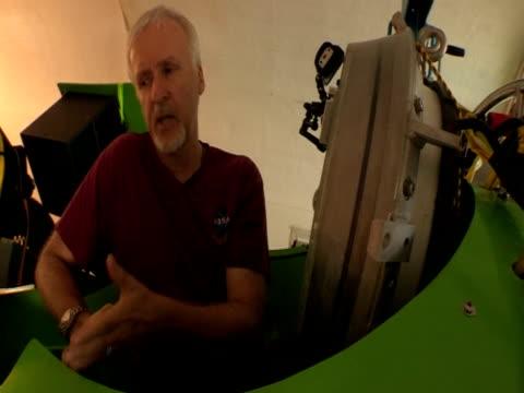 director james cameron talks about deep sea dive - james cameron stock videos & royalty-free footage