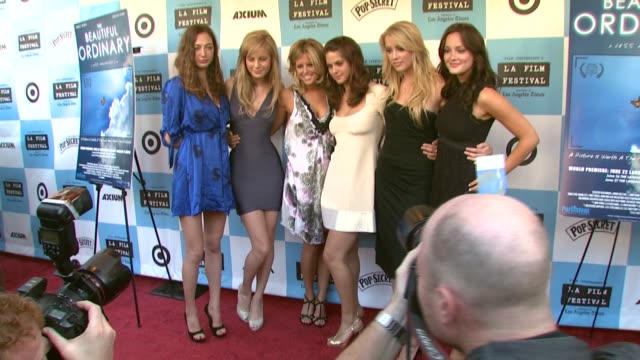 Director Jess Manafort Katrina Begin Brie Larson Lyndsy Fonseca Amber Heard and Leighton Meester at the 'The Beautiful Ordinary' Premiere at...