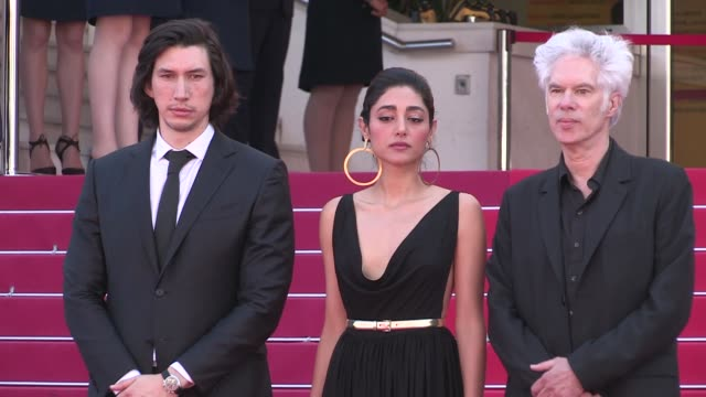Director Jim Jarmusch Adam Driver Golshifteh Farahani and more on the red carpet for the Premiere of Paterson at the Cannes Film Festival 2016 Monday...