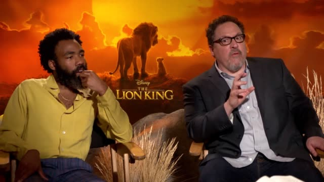 director jon favreau and star donald glover discuss disney's liveaction remake of the lion king they speak on how they have changed the lyrics and... - disney stock videos and b-roll footage