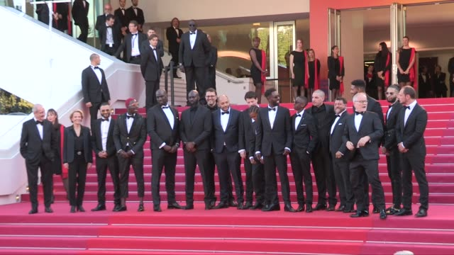 vidéos et rushes de director ladj ly frederique bredin and the casting of les miserables on the red carpet for the screening of les miserables during the 72nd annual... - festival international de cannes