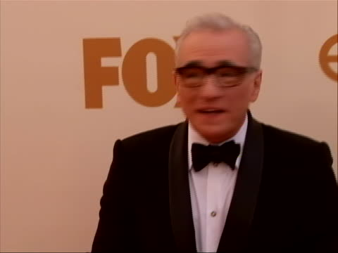 director martin scorsese on the red carpet for 2011 emmy awards on september 18 the 63rd annual primetime emmy awards, honoring the best in primetime... - director's guild of america stock videos & royalty-free footage